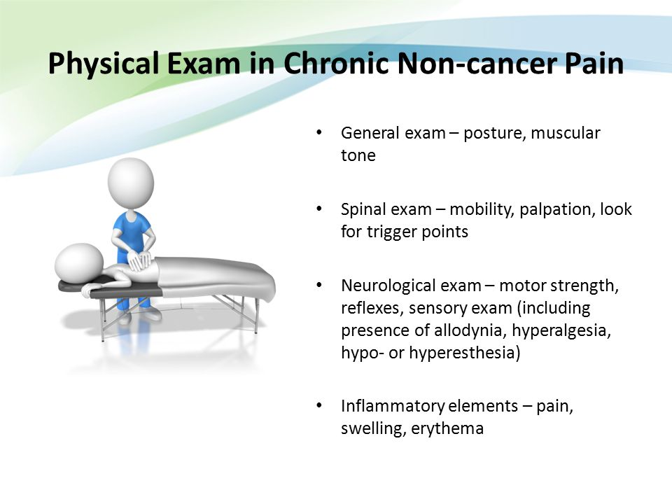 Physical Exam in Chronic Non-cancer Pain