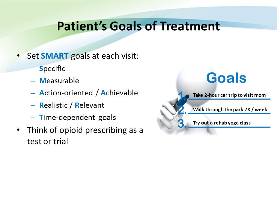 Patient's Goals of Treatment