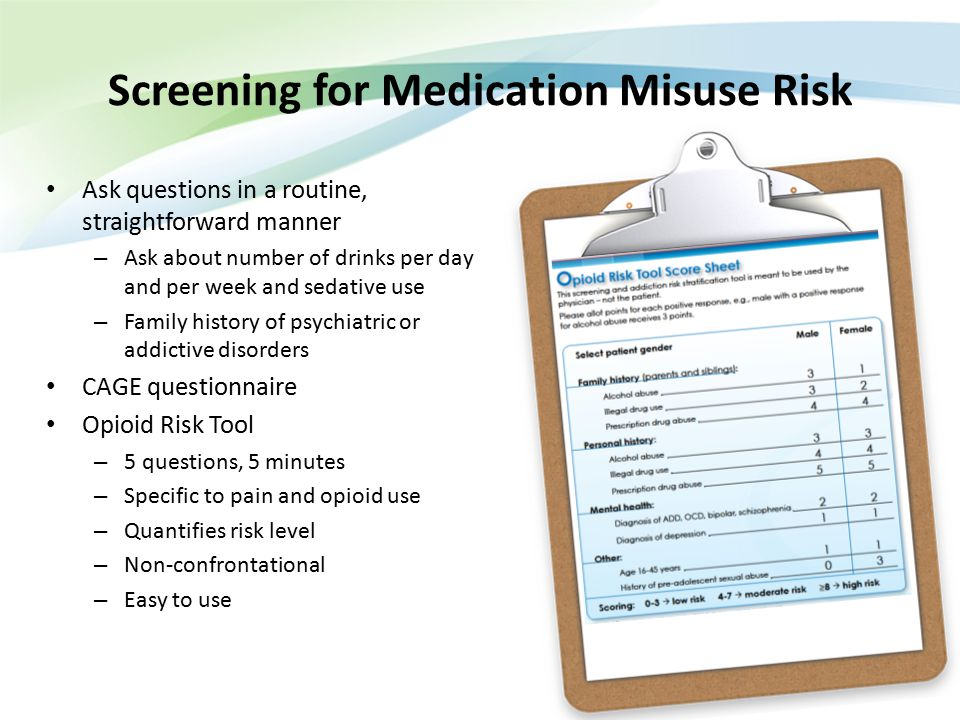 Screening for Medication Misuse Risk