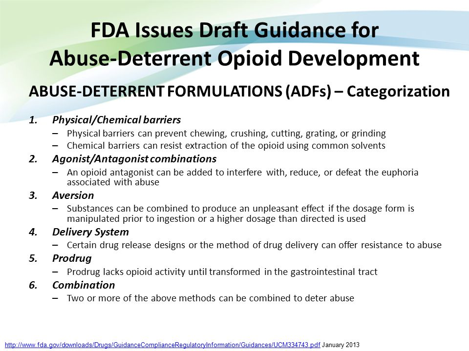 FDA Issues Draft Guidance for Abuse-Deterrent Opioid Development