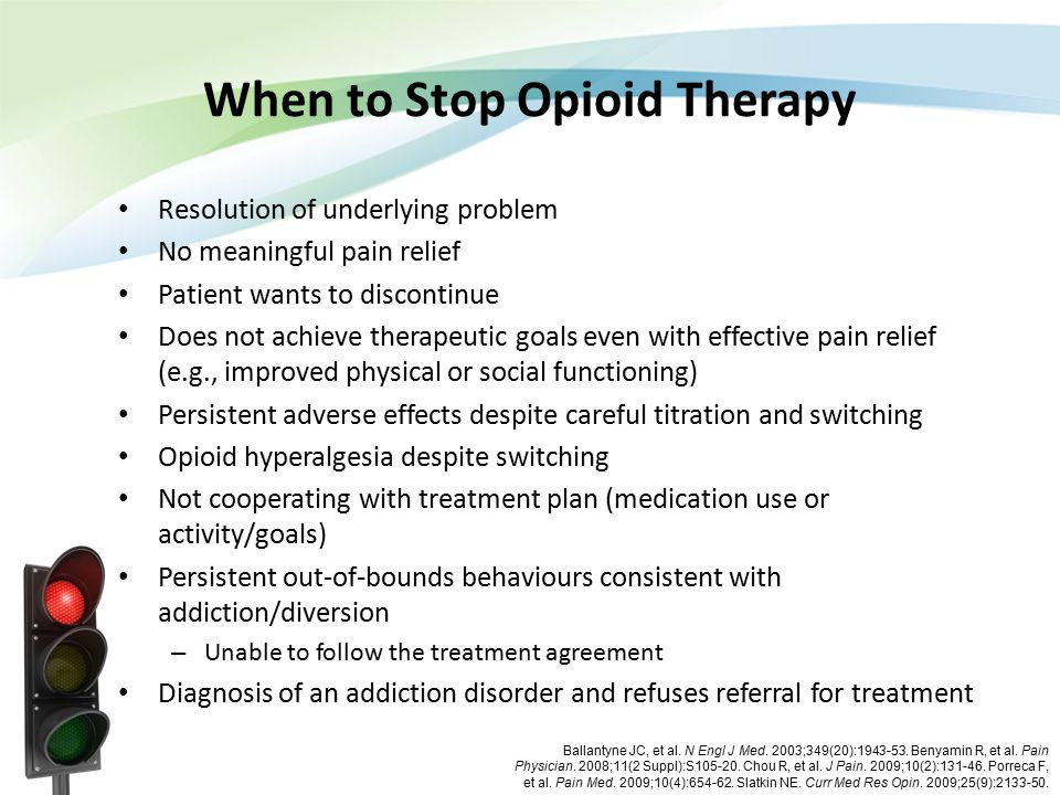 When to Stop Opioid Therapy