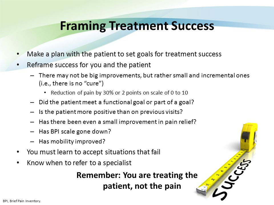 Framing Treatment Success