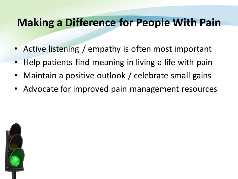Making a Difference for People With Pain