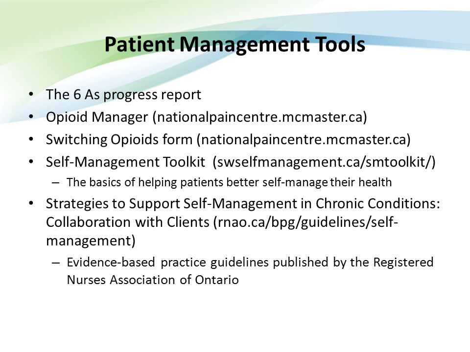 Patient Management Tools