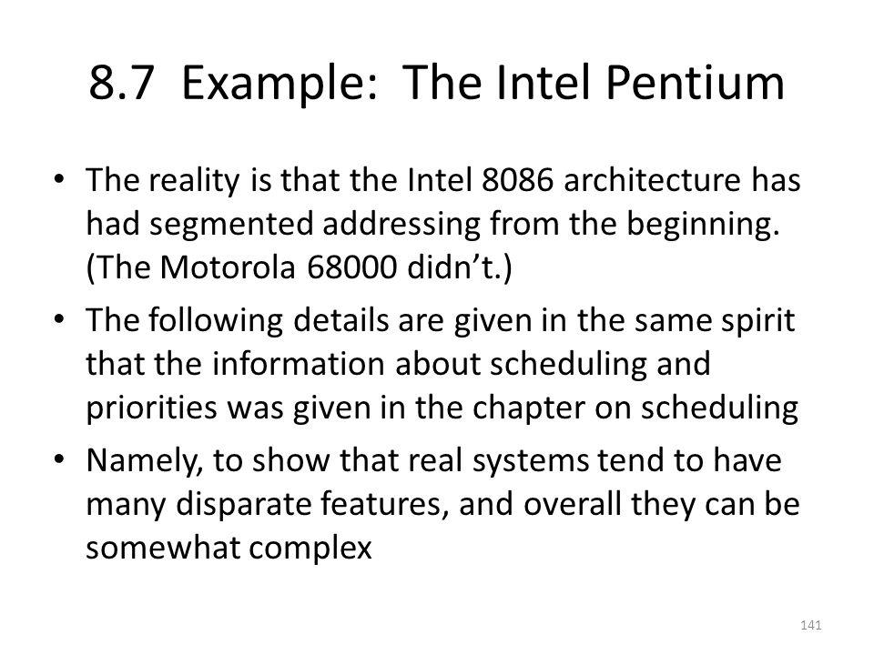 8.7 Example: The Intel Pentium