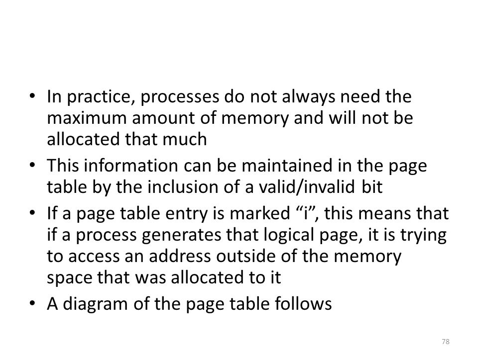 In practice, processes do not always need the maximum amount of memory and will not be allocated that much