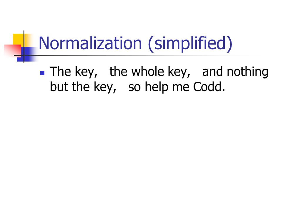 Normalization (simplified)