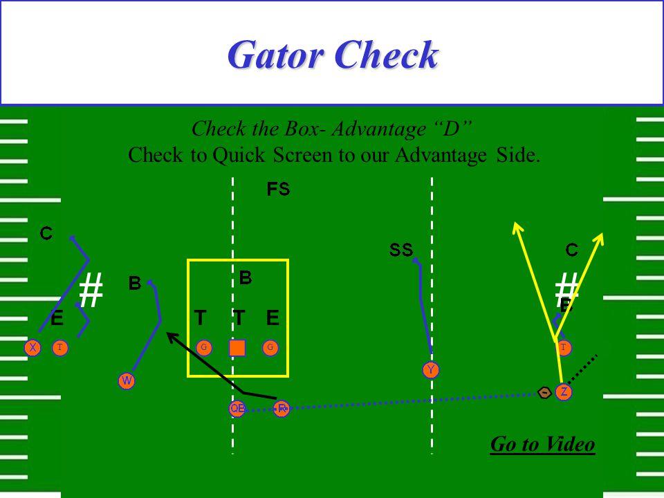 # Gator Check Check the Box- Advantage D