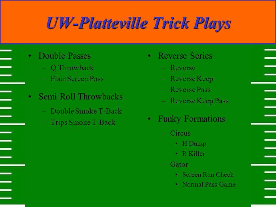 UW-Platteville Trick Plays