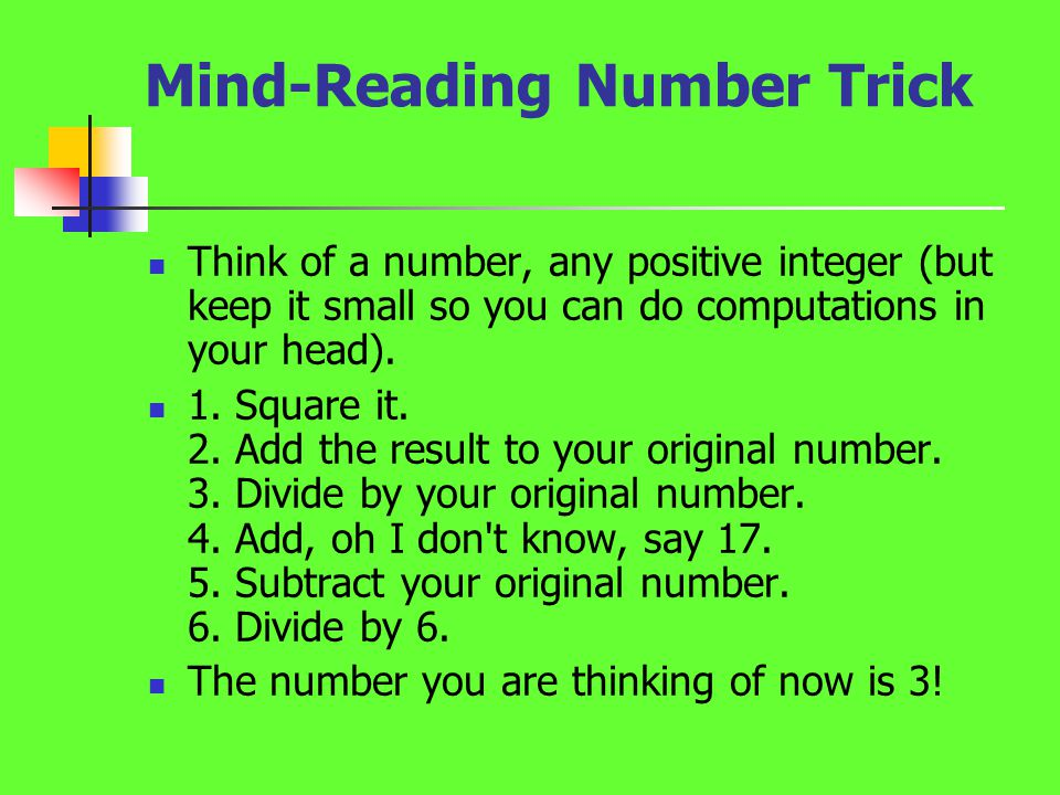 Mind-Reading Number Trick