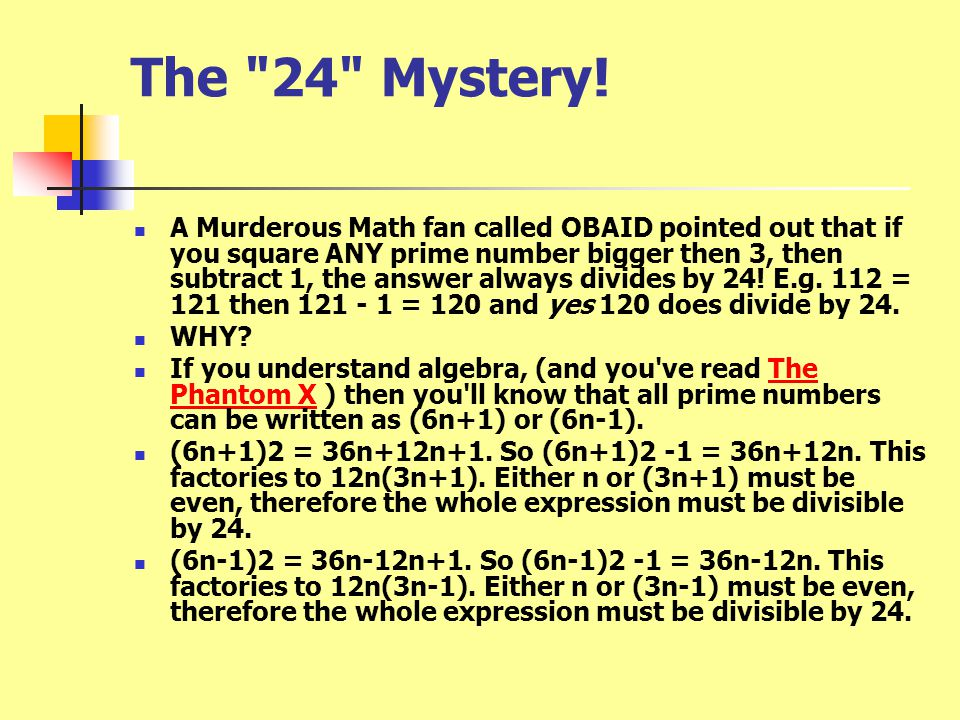 The 24 Mystery!