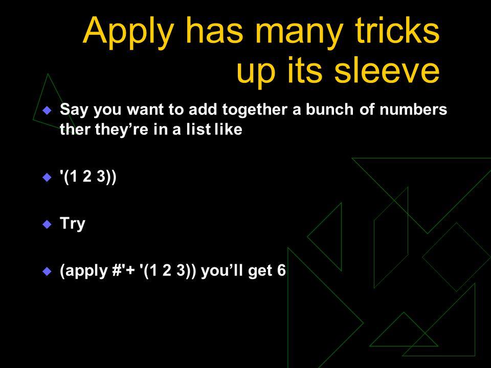 Apply has many tricks up its sleeve