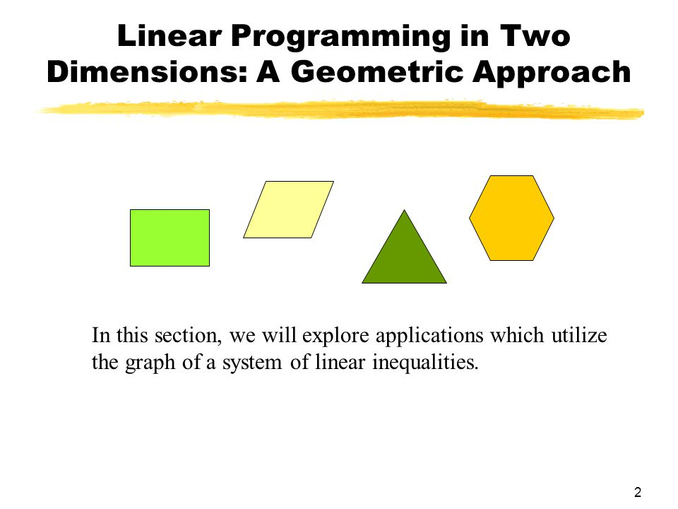 Linear Programming in Two Dimensions: A Geometric Approach