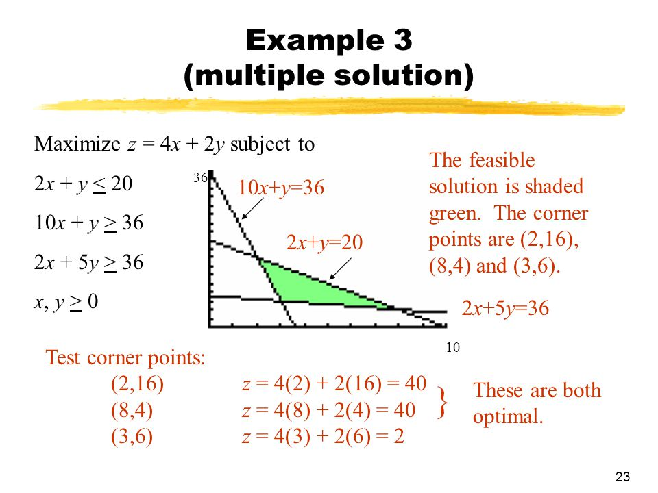 Example 3 (multiple solution)
