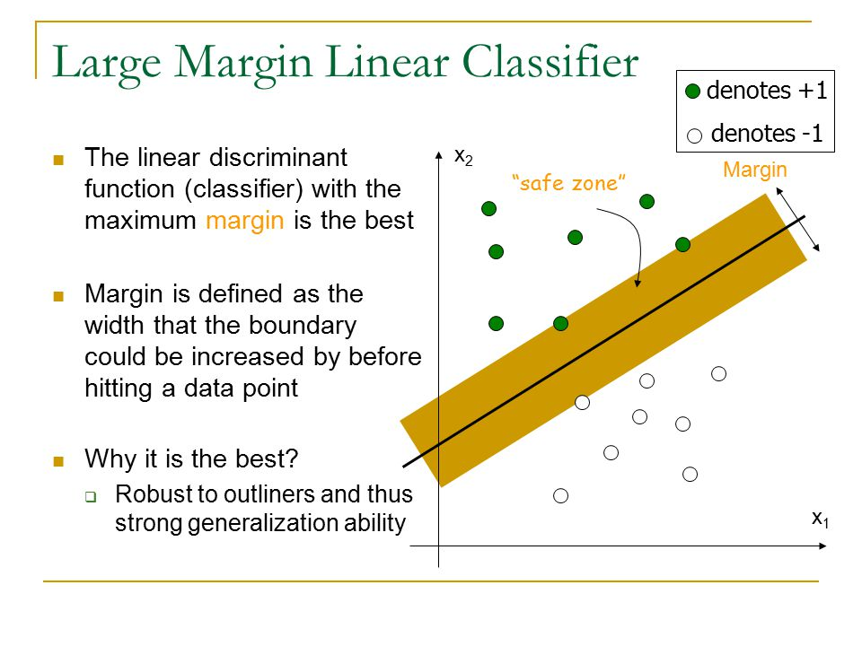 Large Margin Linear Classifier