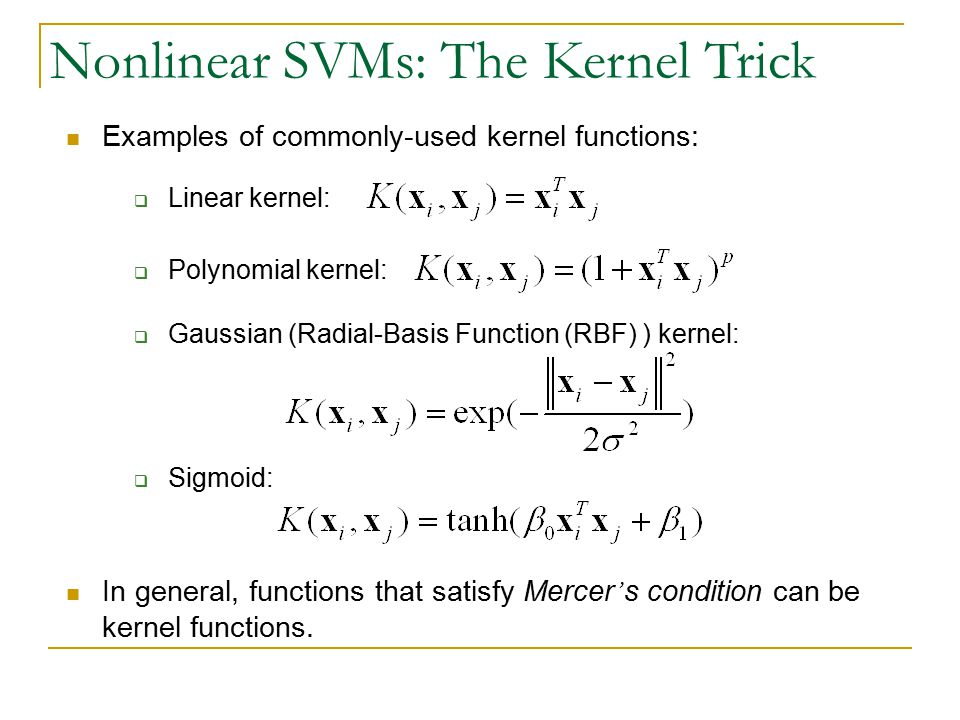 Nonlinear SVMs: The Kernel Trick