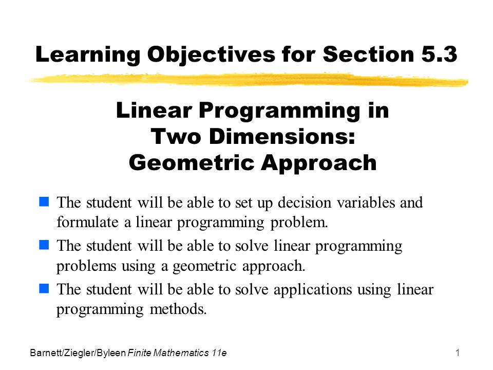Learning Objectives for Section 5.3