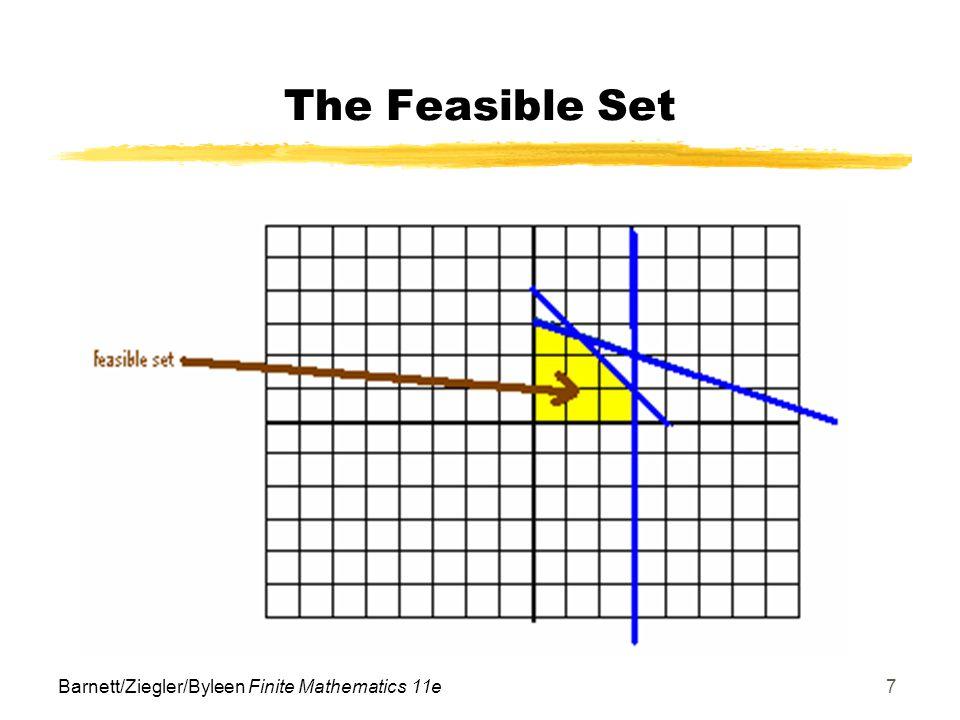 The Feasible Set Barnett/Ziegler/Byleen Finite Mathematics 11e