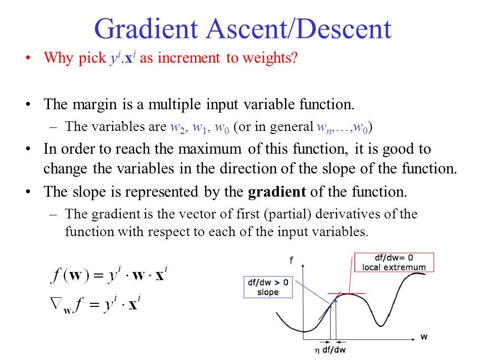 Gradient Ascent/Descent