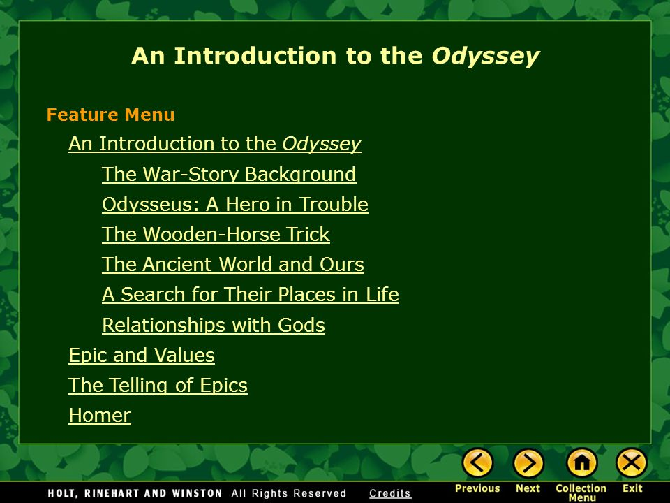 An Introduction to the Odyssey
