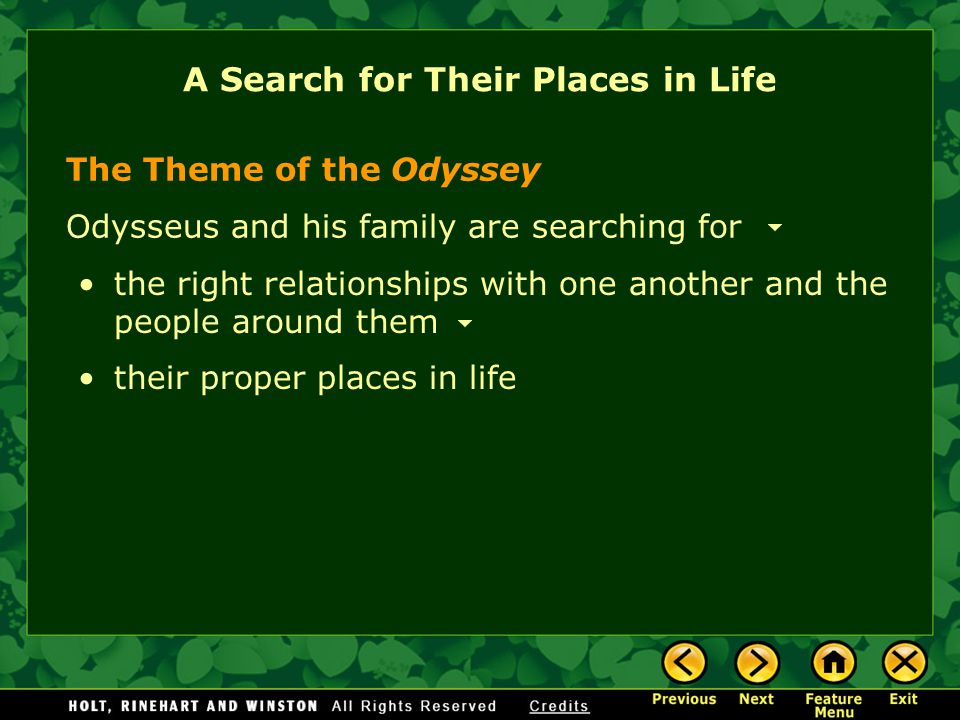 A Search for Their Places in Life