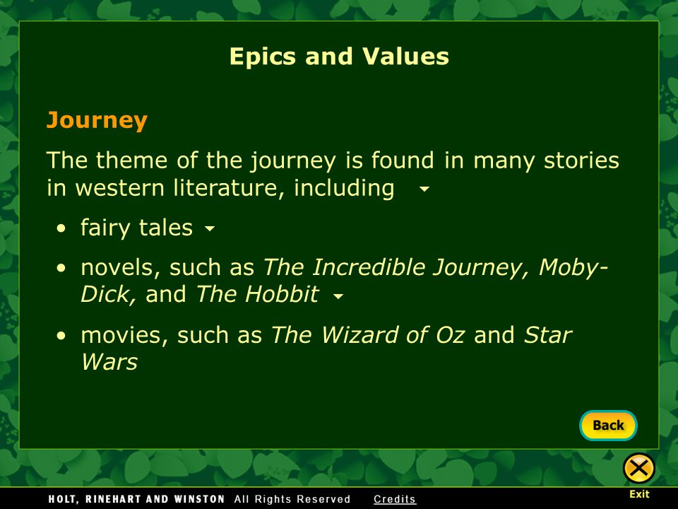 Epics and Values Journey