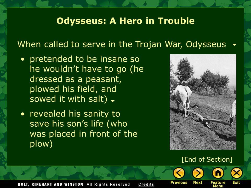 Odysseus: A Hero in Trouble