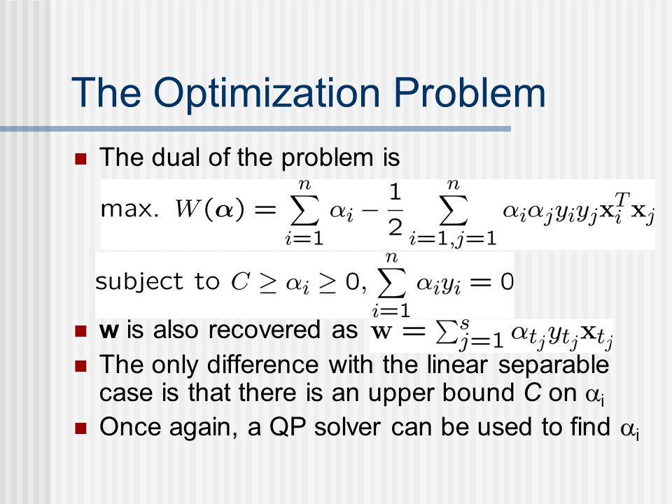 The Optimization Problem