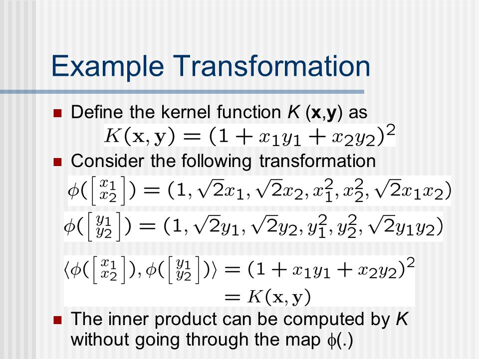Example Transformation