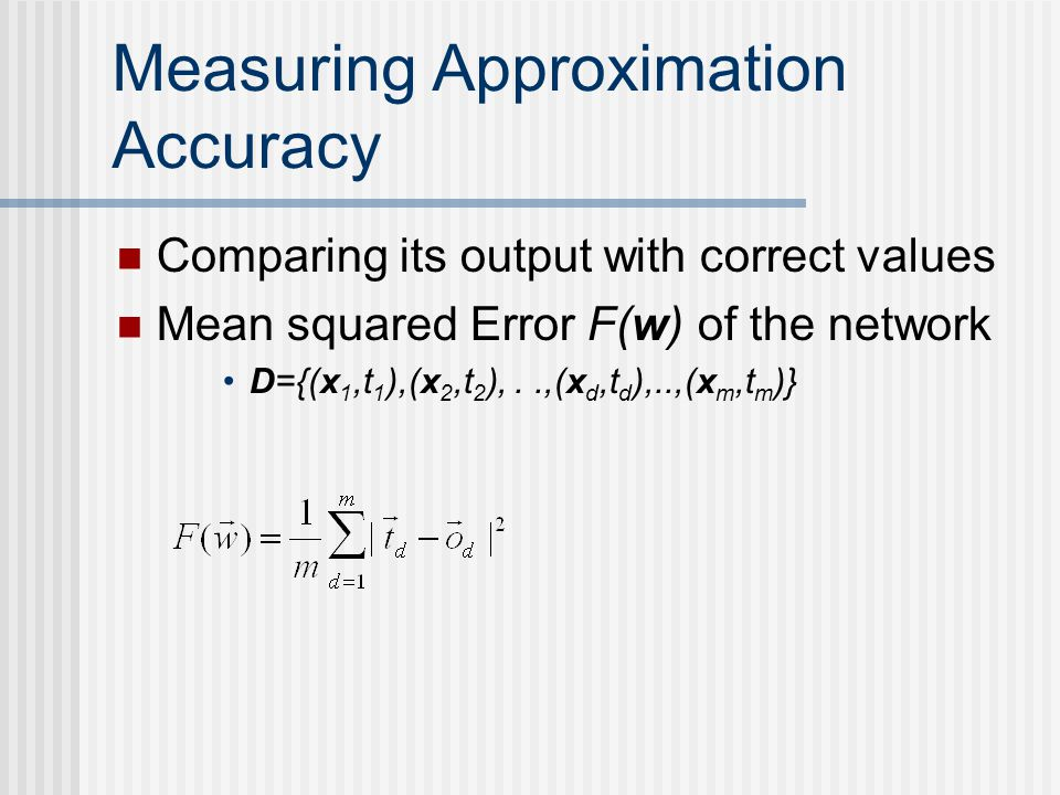 Measuring Approximation Accuracy