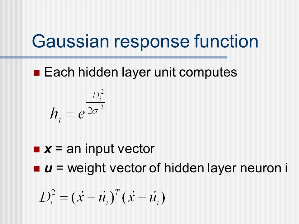 Gaussian response function