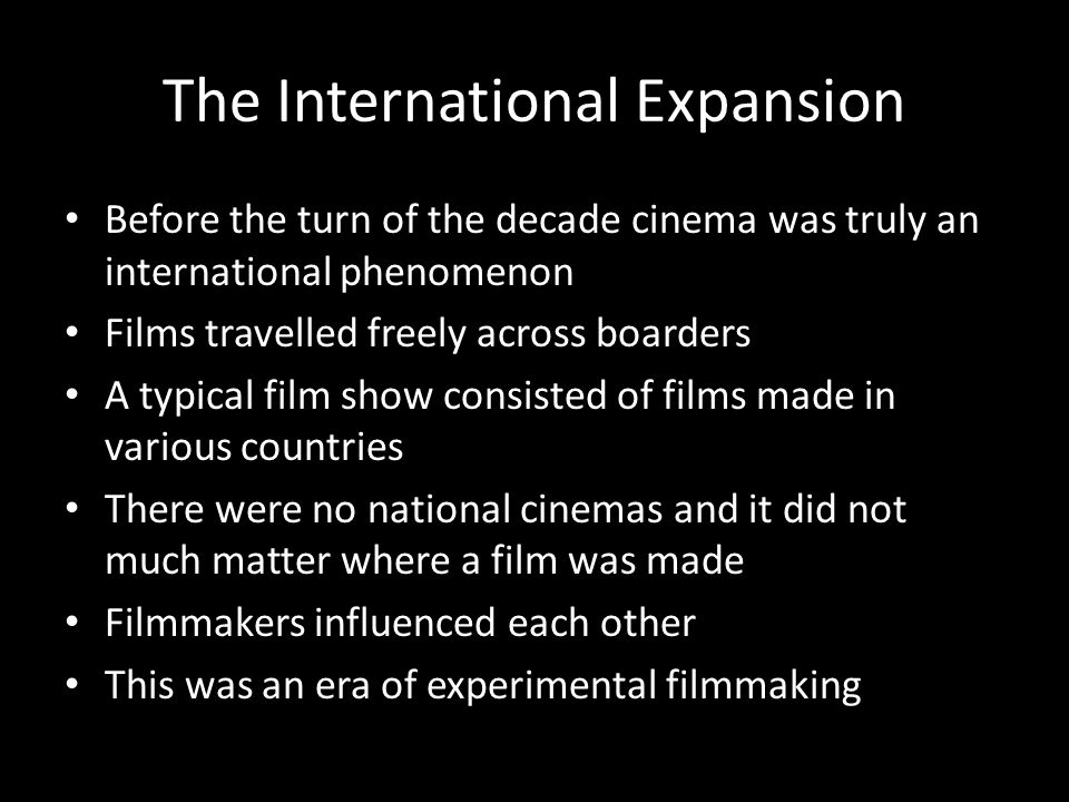 The International Expansion