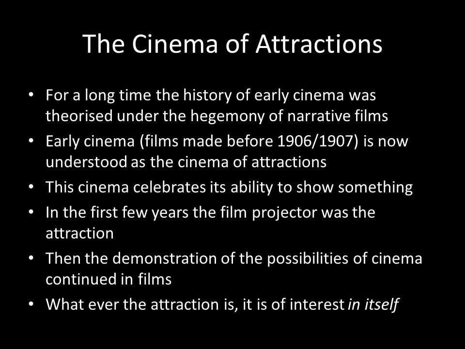 The Cinema of Attractions