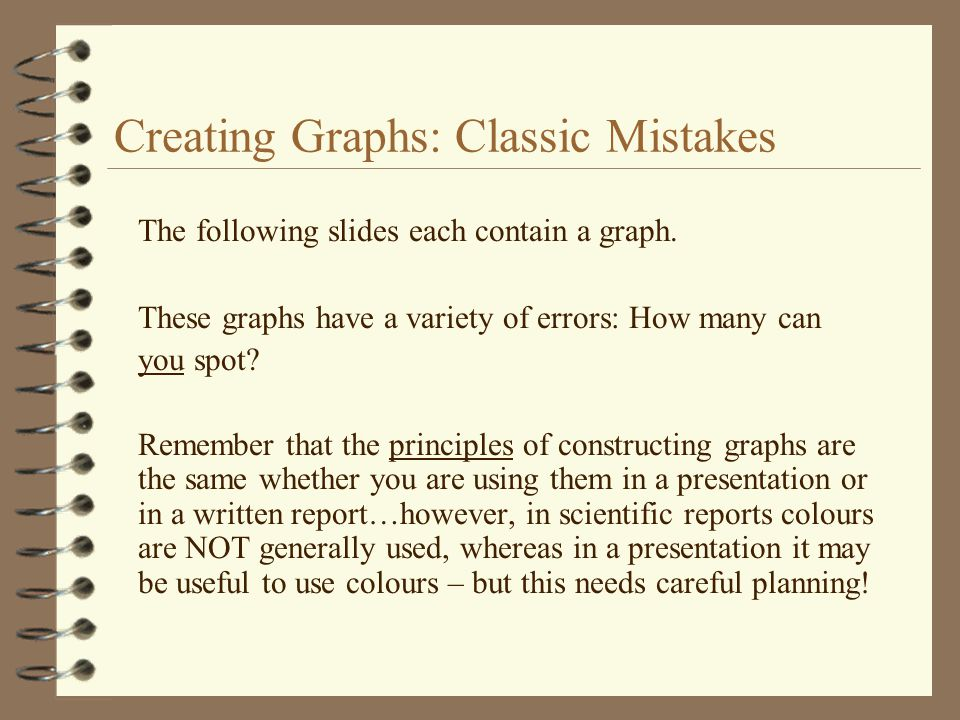 Creating Graphs: Classic Mistakes