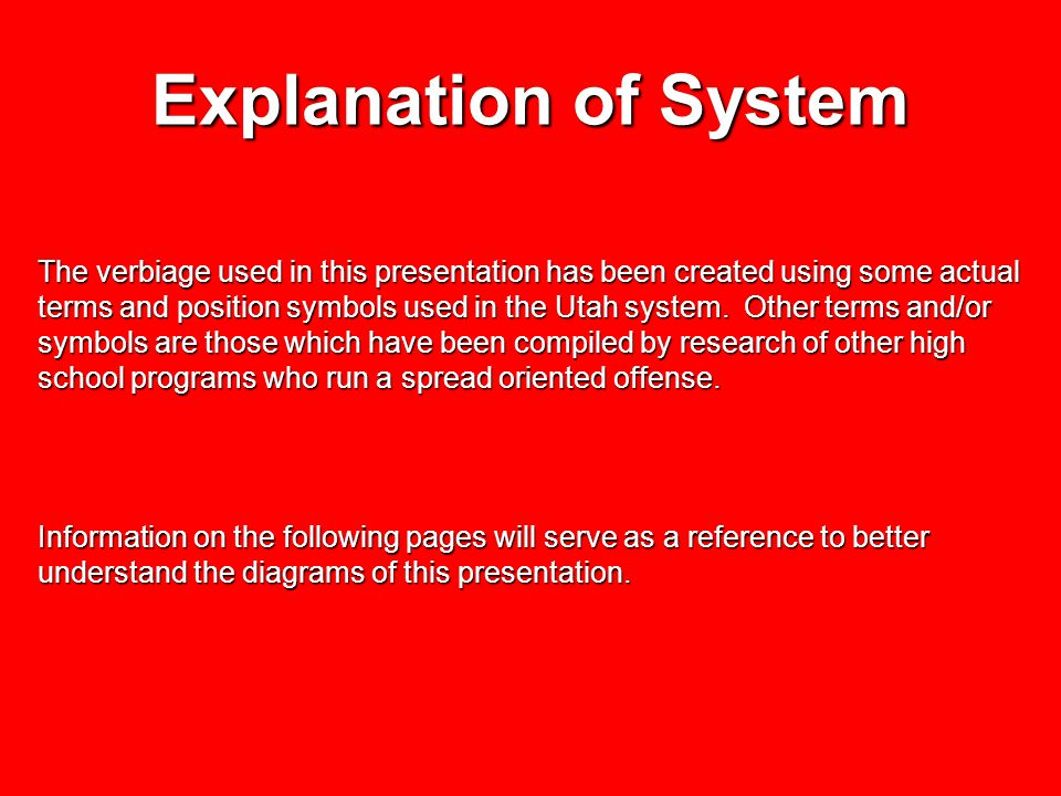Explanation of System