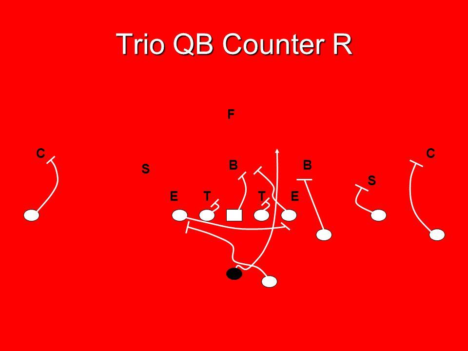 Trio QB Counter R F C C B B S S E T T E