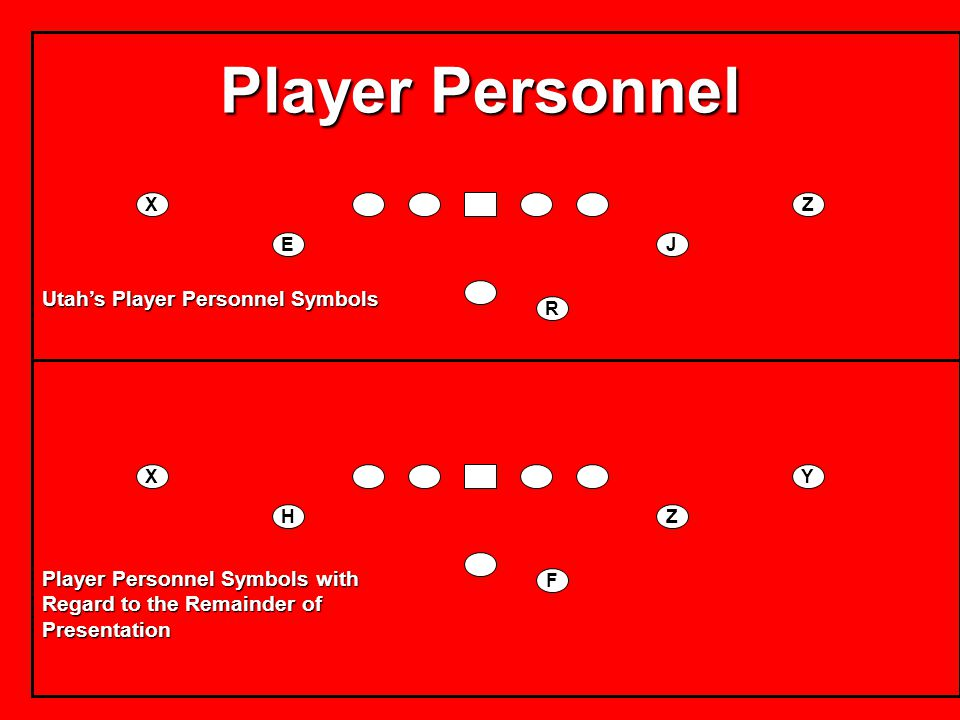 Player Personnel Utah's Player Personnel Symbols