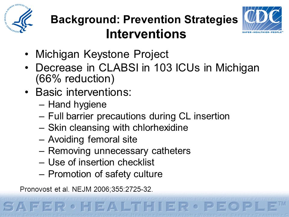 Background: Prevention Strategies Interventions