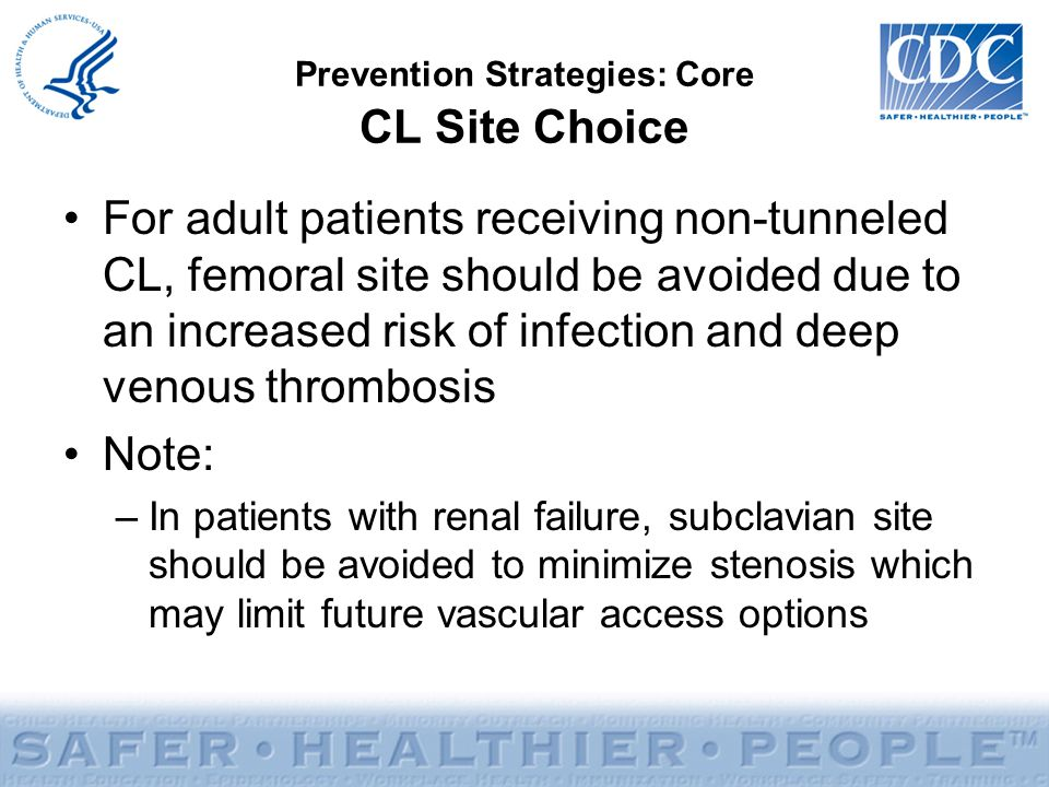 Prevention Strategies: Core CL Site Choice