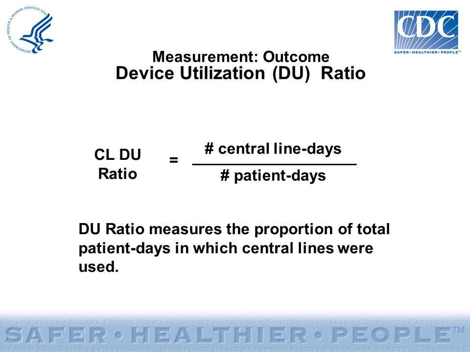 Measurement: Outcome Device Utilization (DU) Ratio