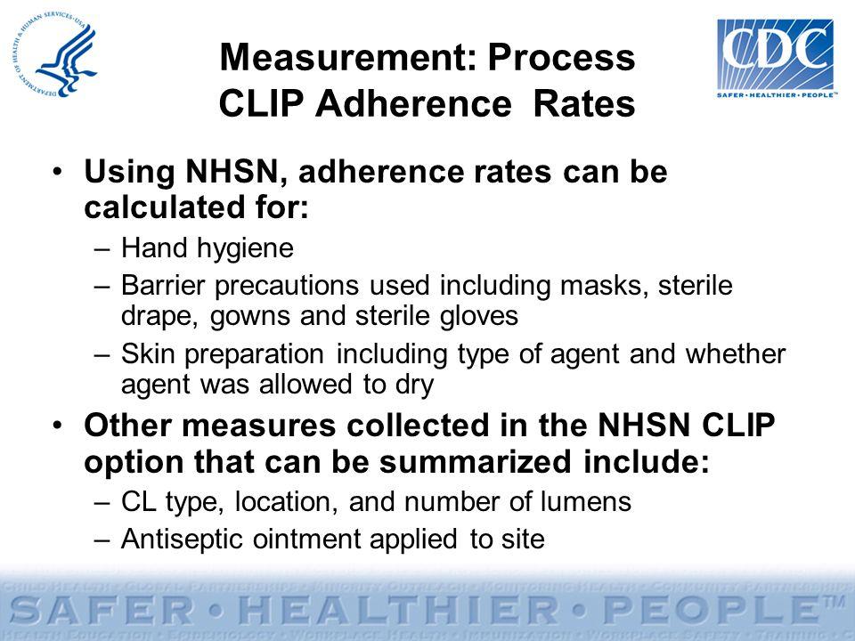 Measurement: Process CLIP Adherence Rates