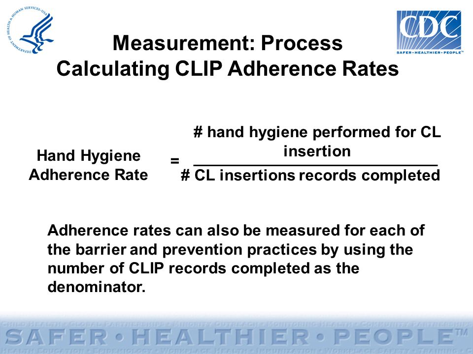 Measurement: Process Calculating CLIP Adherence Rates