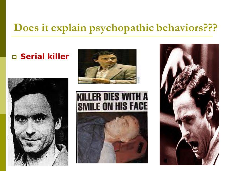 Does it explain psychopathic behaviors