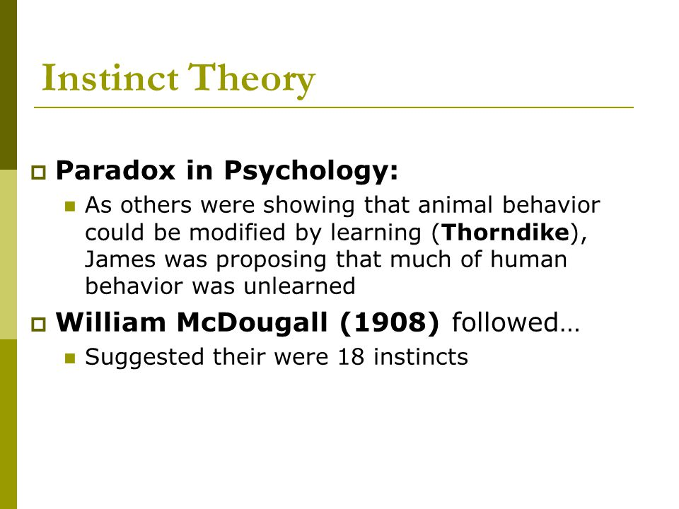 Instinct Theory Paradox in Psychology: