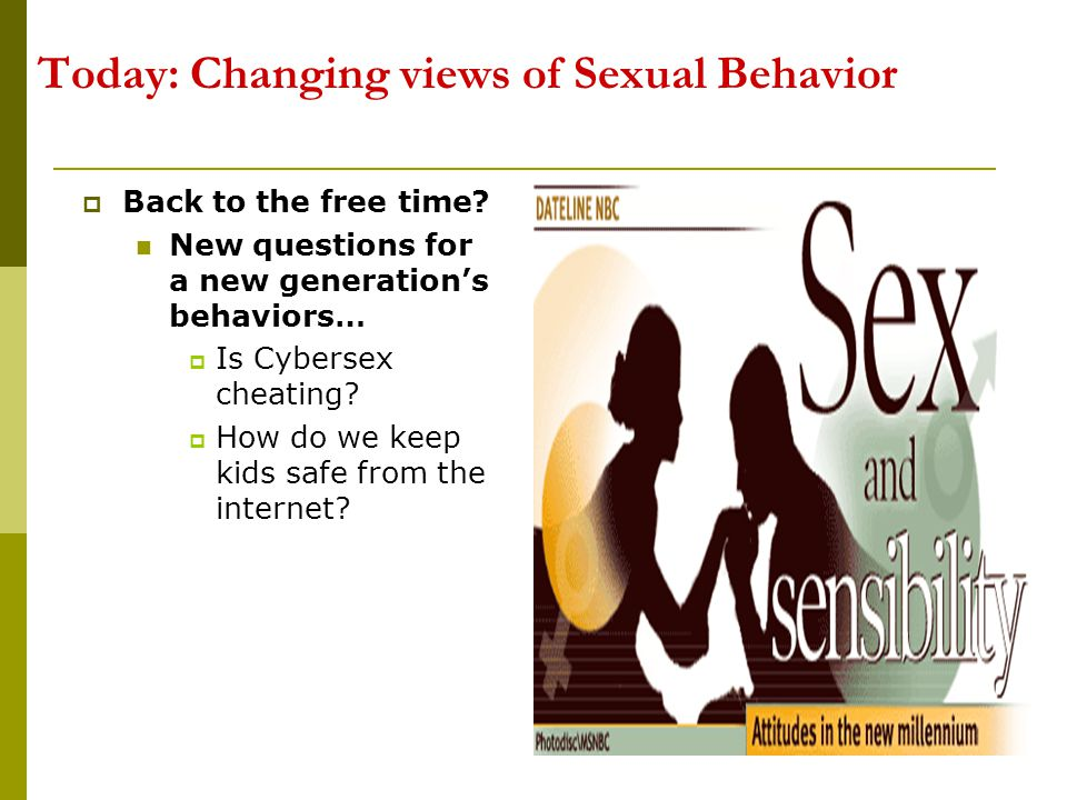 Today: Changing views of Sexual Behavior
