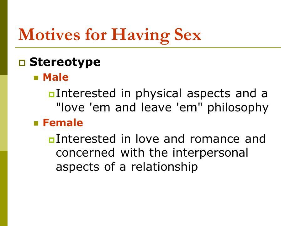 Motives for Having Sex Stereotype