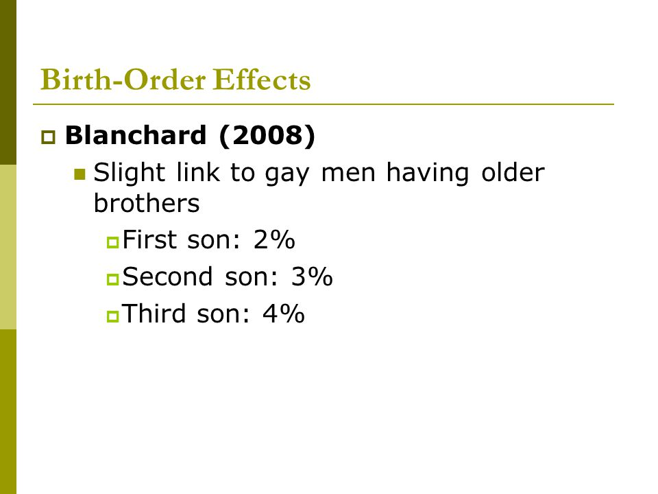 Birth-Order Effects Blanchard (2008)