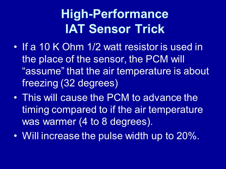 High-Performance IAT Sensor Trick