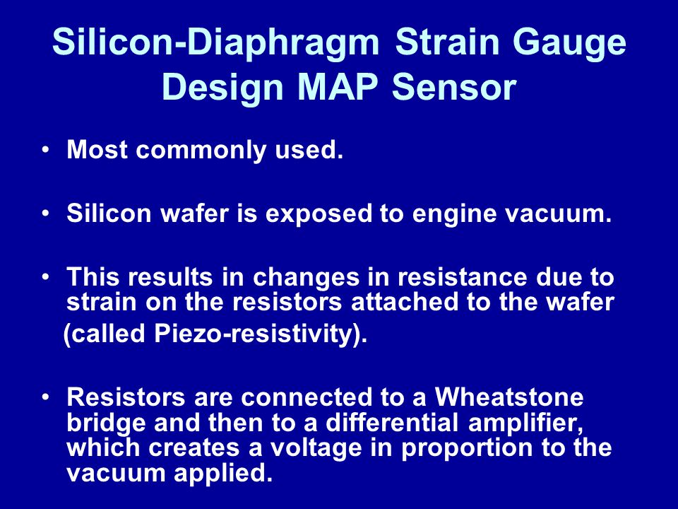 Silicon-Diaphragm Strain Gauge Design MAP Sensor