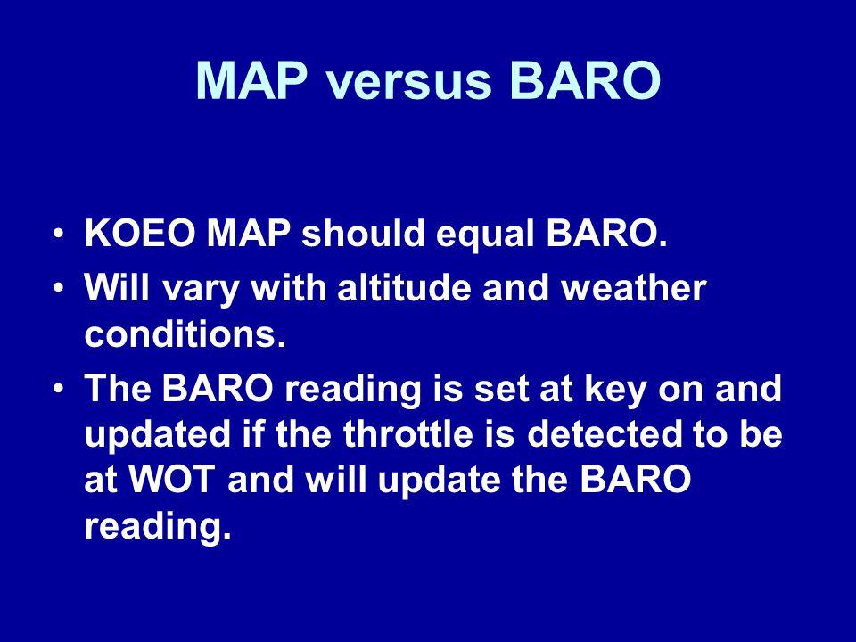 MAP versus BARO KOEO MAP should equal BARO.